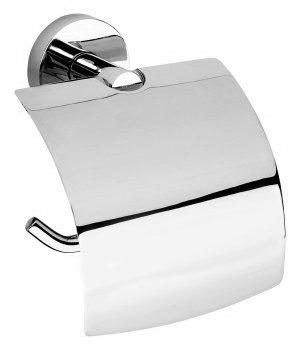 Sapho X Round toiletrolhouder met klep type 1 chroom