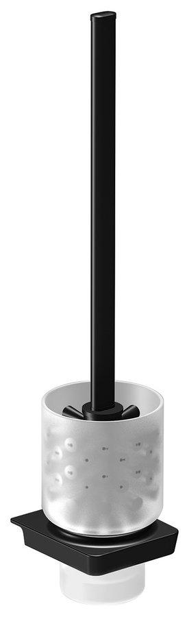 Sapho Zen Black zwarte toiletborstel met houder