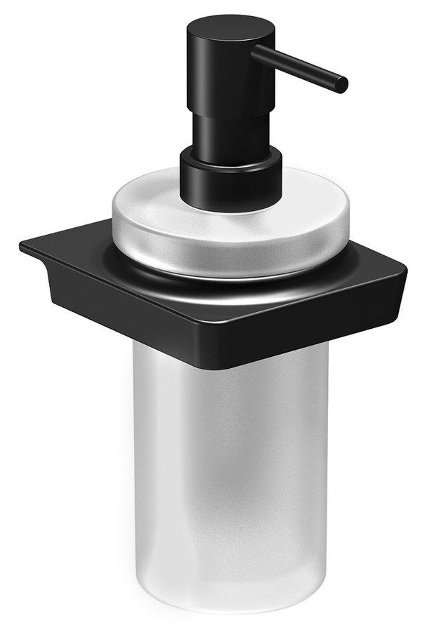 Sapho Zen Black zwarte zeepdispenser met matglas 250ml
