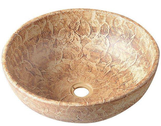 Sapho Plata keramische decoratie waskom 42cm bruin