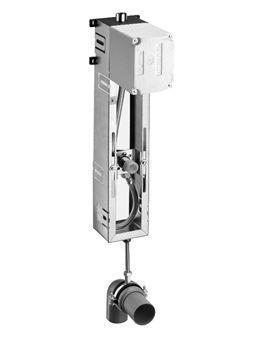Schell Compact II urinoir-module frontbediening m. afvoer naar onder