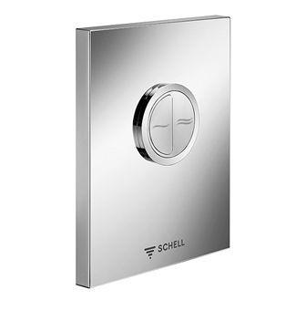 Schell Edition Eco bedieningsplaat DF v. closet inbouwspoelkraan compact II edelstaal edelstaal