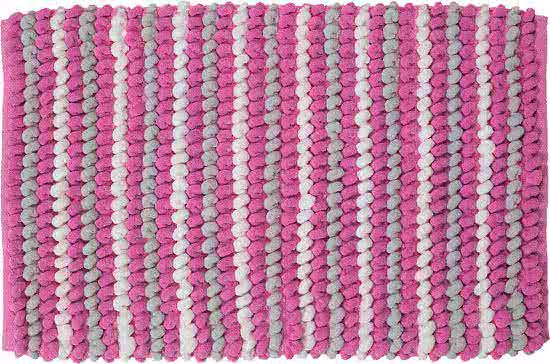 Sealskin Bright badmat polyester 50x80 cm roze