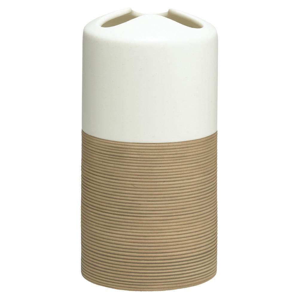Sealskin Doppio+ tandenborstelhouder porcelein zand