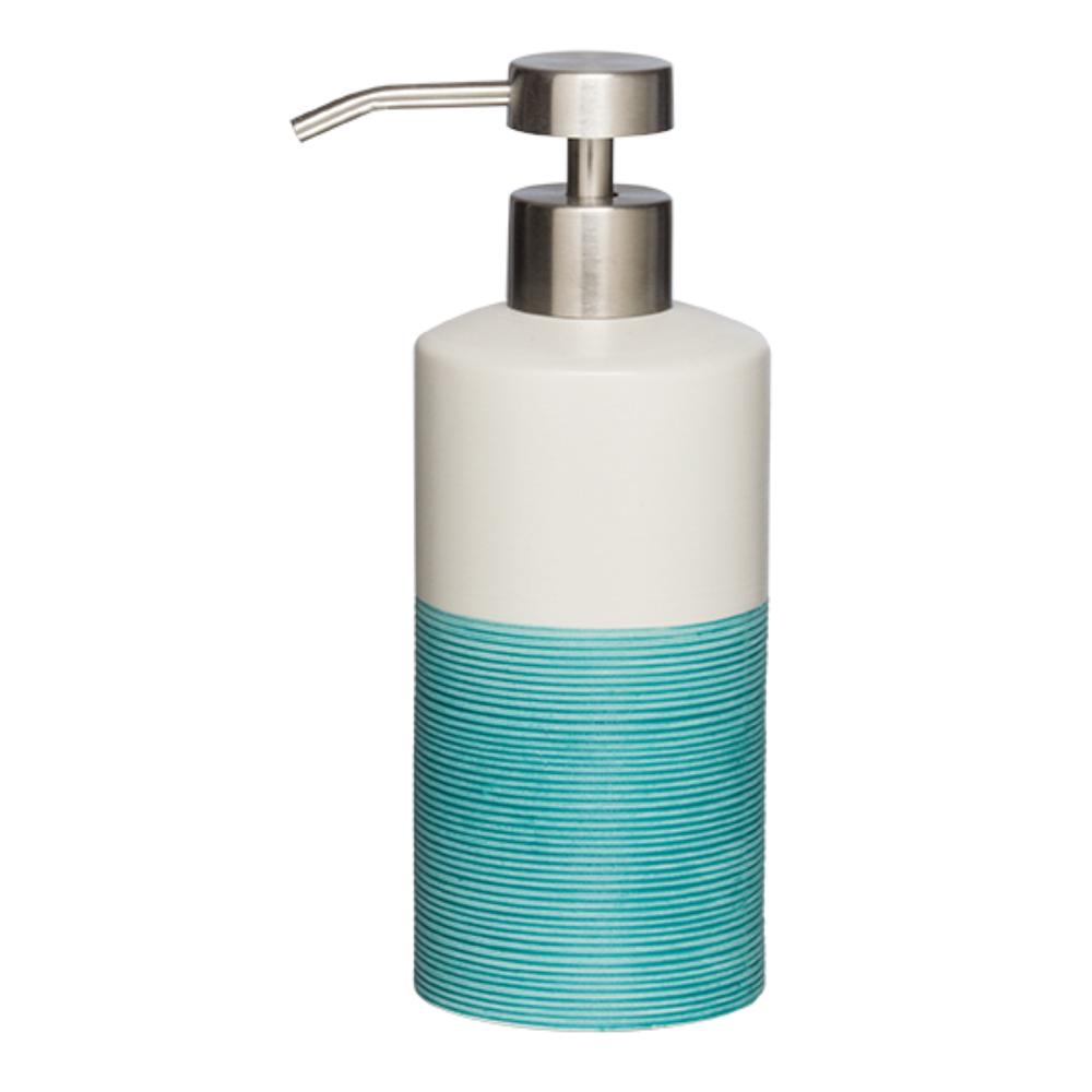 Sealskin Doppio+ zeepdispenser porcelein aqua