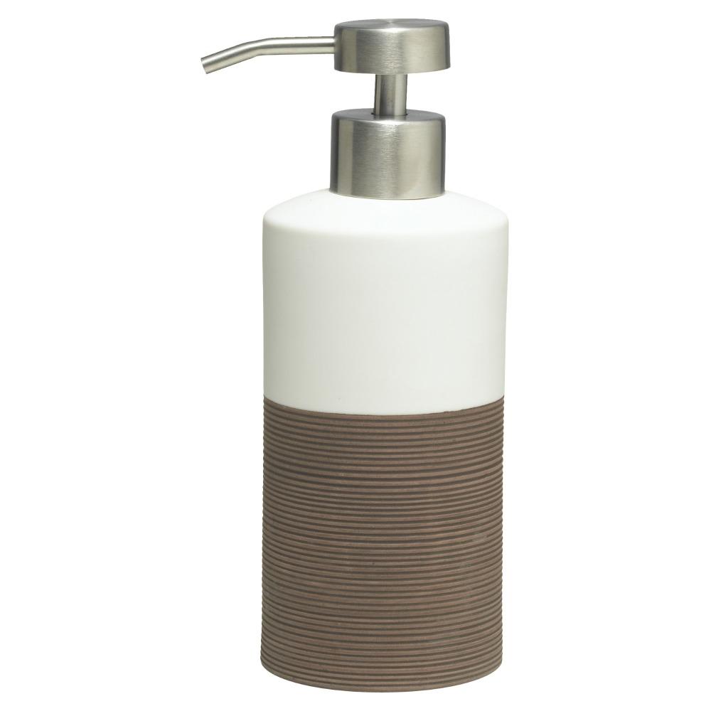 Sealskin Doppio+ zeepdispenser porcelein bruin