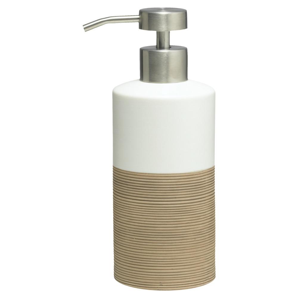 Sealskin Doppio+ zeepdispenser porcelein zand