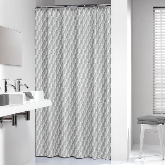 Sealskin douchegordijn Chesterfield 100% polyester grijs print 180x200 cm