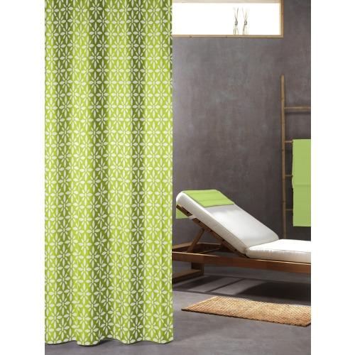 Sealskin douchegordijn Floreale 100% polyester lime print 180x200 cm