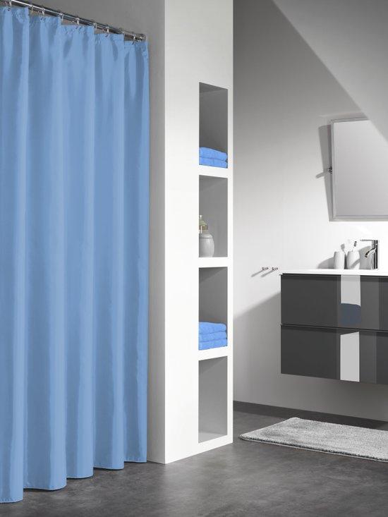 Sealskin douchegordijn Granada PEVA middenblauw 180x200 cm