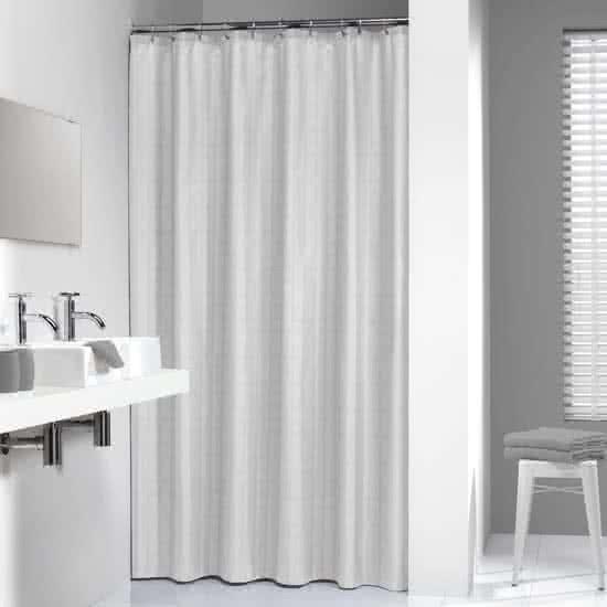 Sealskin douchegordijn Hotel 100% polyester wit 180x200 cm