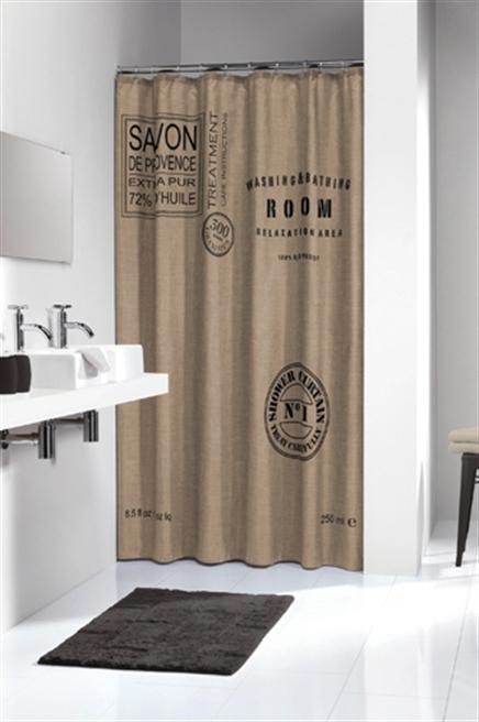 Sealskin douchegordijn Savon de Provence 100% polyester linnen 180x200 cm