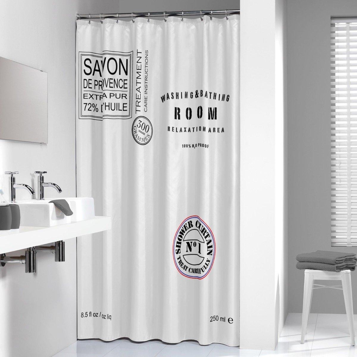 Sealskin douchegordijn Savon de Provence 100% polyester wit 180x200 cm