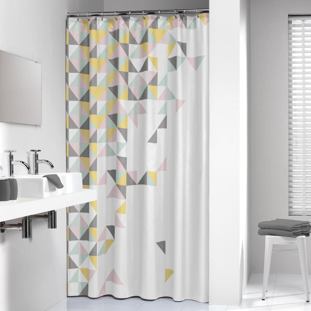 Sealskin douchegordijn Tangram 100% polyester multi-color print 180x200 cm