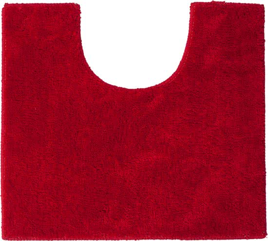 Sealskin Doux toiletmat polyester 45x50 cm rood