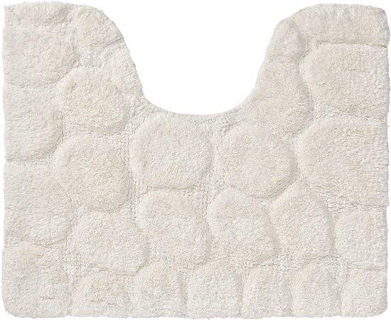 Sealskin Pebbles toiletmat katoen 50x60 cm ivoor