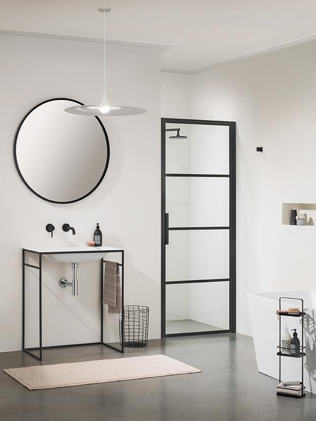 Sealskin SOHO swingdeur rechts draaiend 80x210cm mat zwart