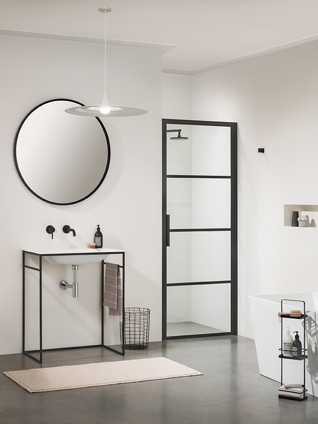 Sealskin SOHO swingdeur rechts draaiend 90x210cm mat zwart