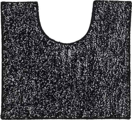 Sealskin Speckles toiletmat polyester 45x50 cm zwart