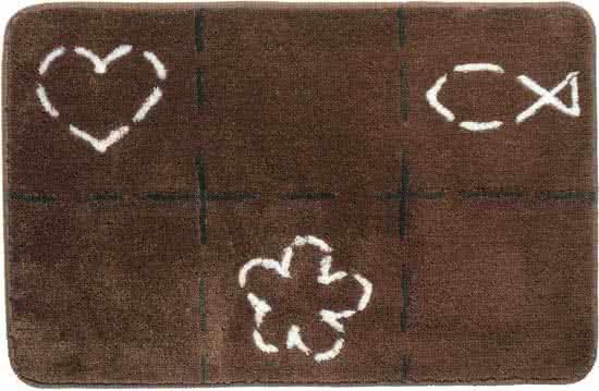 Sealskin Tack badmat acryl 60x90 cm bruin