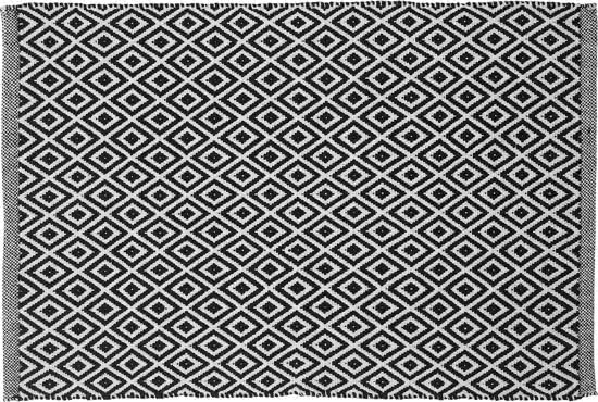 Sealskin Trellis badmat katoen 60x90 zwart