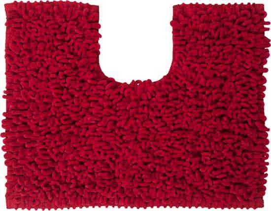 Sealskin Twist toiletmat microfiber 45x50 rood