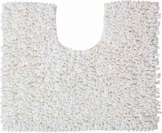 Sealskin Twist toiletmat microfiber 45x50 wit