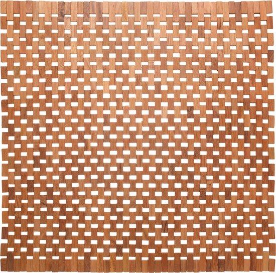 Sealskin Woodblock bidetmat teak 60x60 cm teak