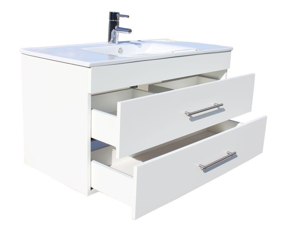 Badmeubel 50 Cm : Badkamer accessoires plazan basic badkamermeubel cm wit