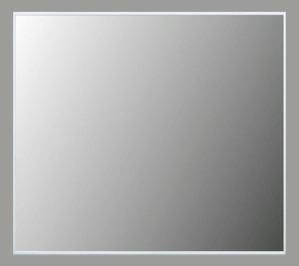Spiegel met alu omlijsting 70 x 80 x 2,2 cm.