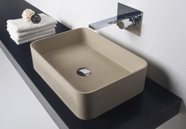 SSI Design Arizona wastafel Solid Surface 50x35x12,5cm beige