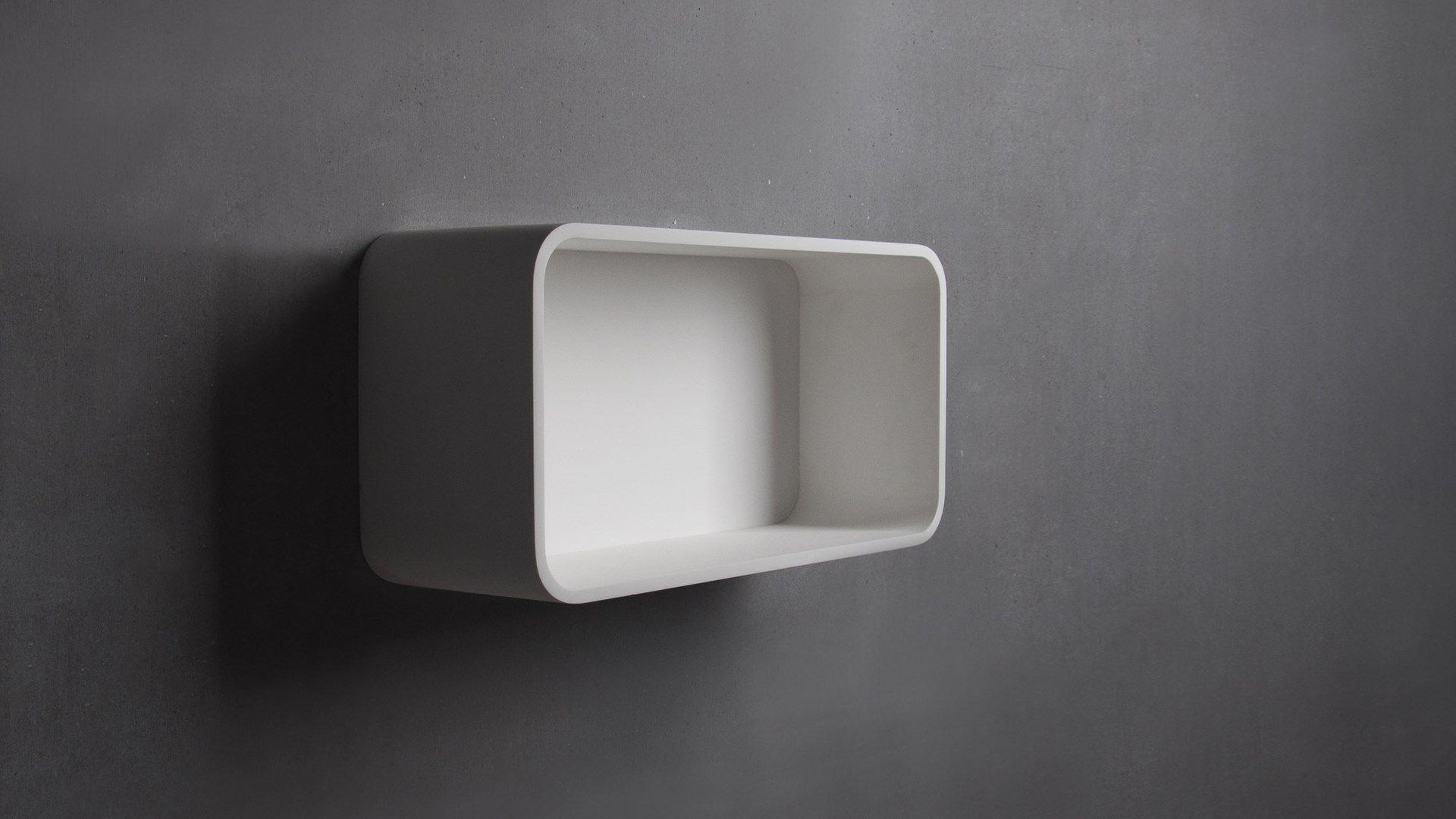 SSI Design Bideford badkamerkast Solid Surface 60x30x20cm