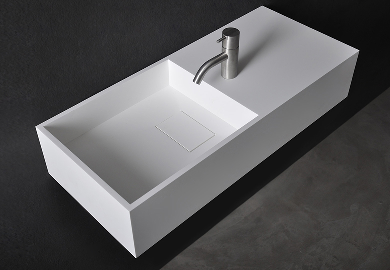 SSI Design Connecticut wastafel Solid Surface 75x32,5x15cm