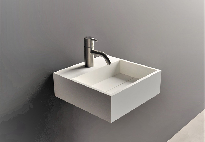SSI Design Iowa fontein Solid Surface 30x30x10cm