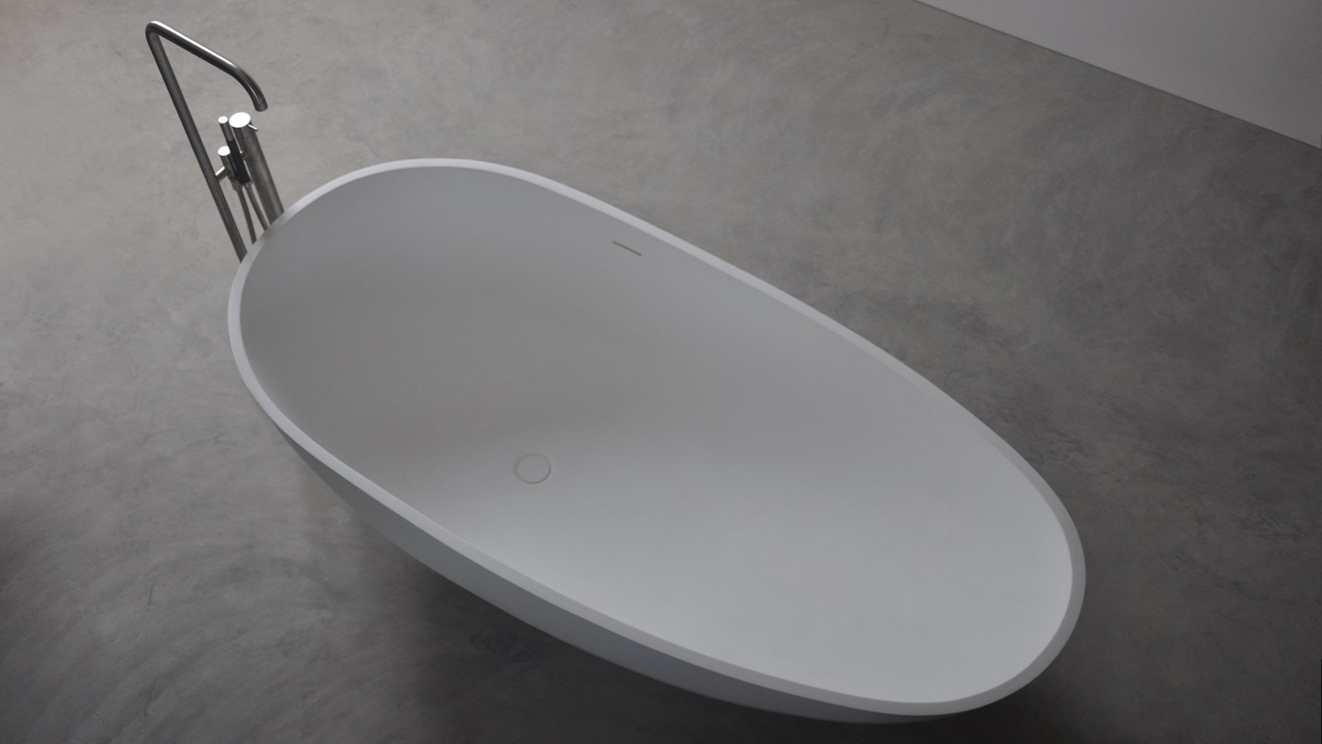 SSI Design Las Dunas vrijstaand bad Solid Surface 180x82x59cm