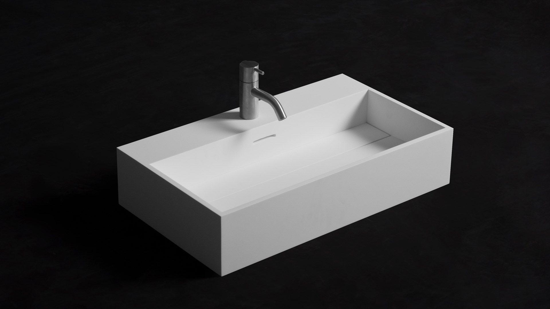 Ondiepe Wastafel Meubels : Badkamer accessoires ssi design michigan wastafel solid surface
