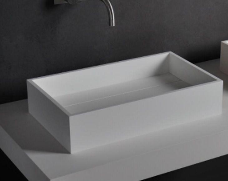 Badkamer accessoires ssi design minnesota wastafel solid surface