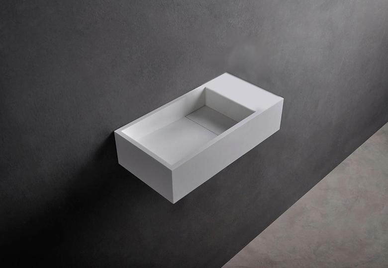 SSI Design Missouri fontein zonder kraangat Solid Surface 40x22x10cm mat wit
