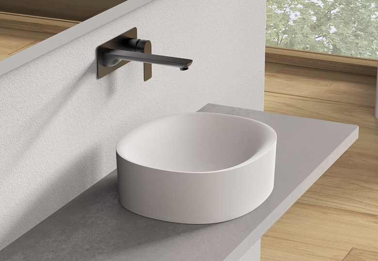 SSI Design Solid Cliff waskom 40x35x12.5cm mat wit