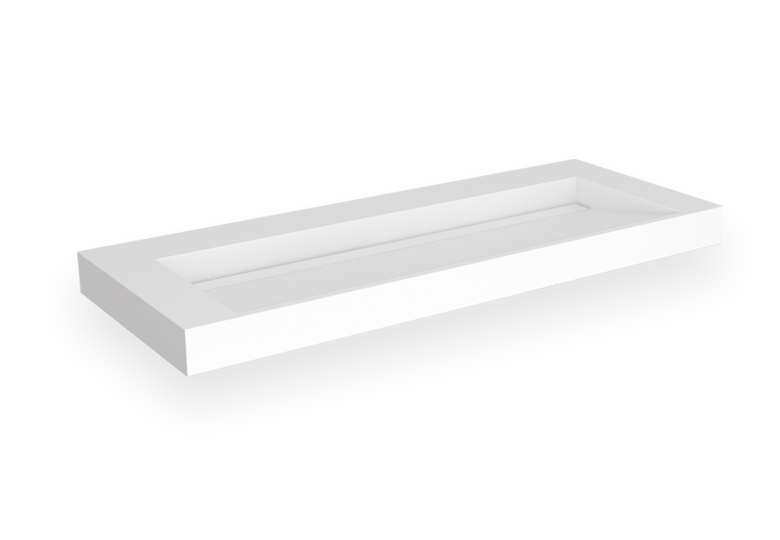 SSI Design Stretto Solid Surface Wastafel 140x45.5cm