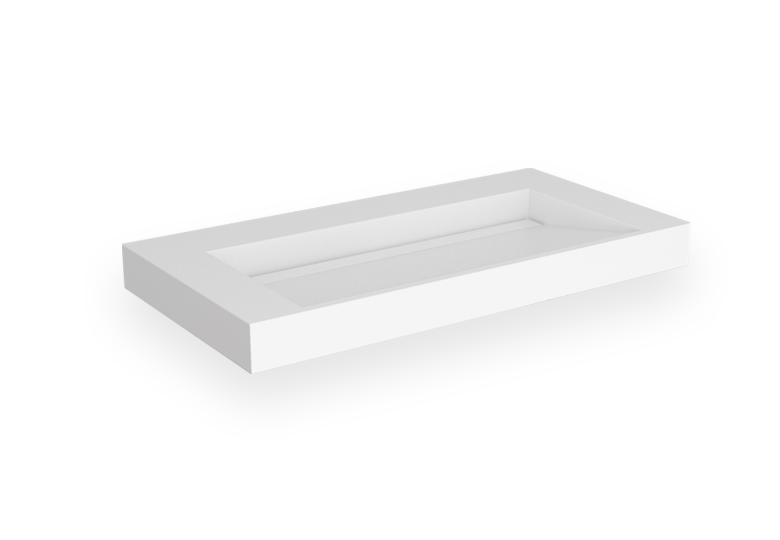 SSI Design Stretto Solid Surface Wastafel 90x45.5cm