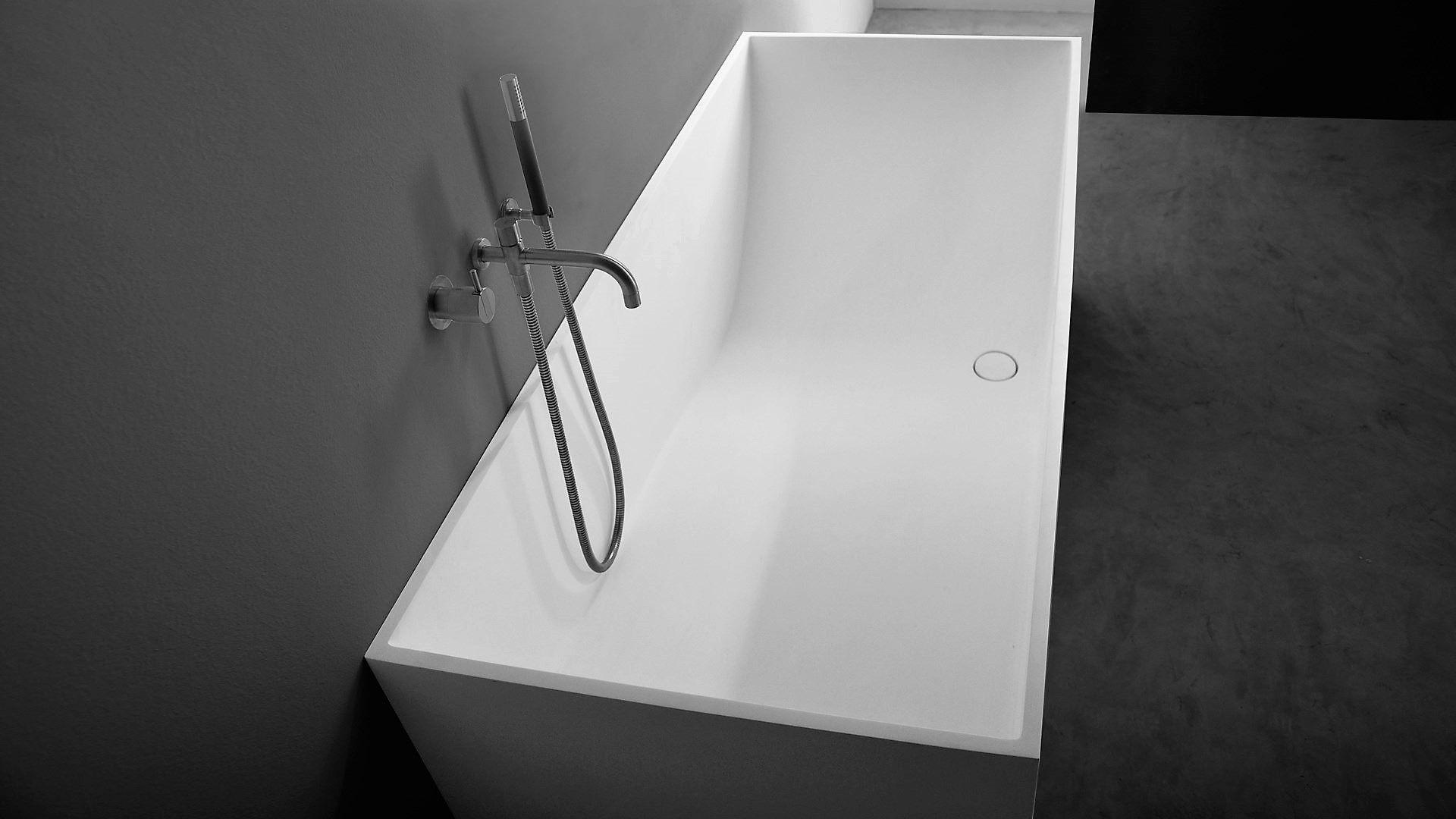 vrijstaand bad rechthoekig
