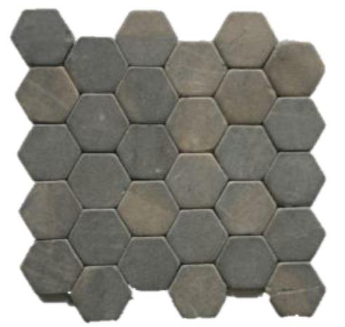 Terra d'Azur Silva Grey hexagonaal natuursteen mozaiek 30×30