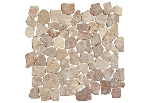 Terre d'Azur Coco brown natuursteen mozaiek 30x30