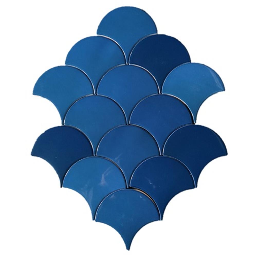 Terre d'Azur Hawaiian visschub tegels - mermaid tegels blauw 12,5x6.3cm