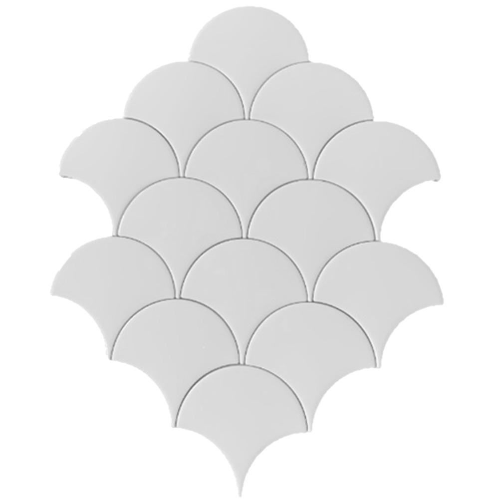 Terre d'Azur Hawaiian visschub tegels - mermaid tegels wit 12,5x6.3cm