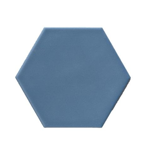 Terre D'Azur Hexagonale vloertegel blauw 15x17cm hexagon F50