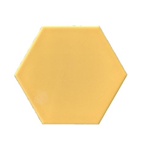 Terre D'Azur Hexagonale vloertegel geel 15x17cm hexagon F01