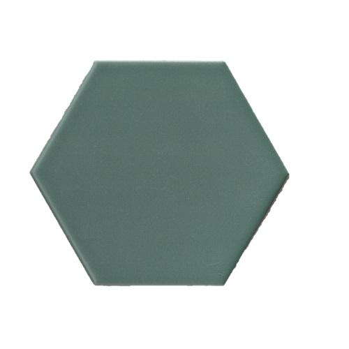 Terre D'Azur Hexagonale vloertegel groen 15x17cm hexagon F46
