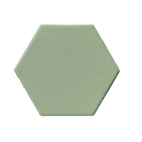 Terre D'Azur Hexagonale vloertegel licht groen 15x17cm hexagon F43
